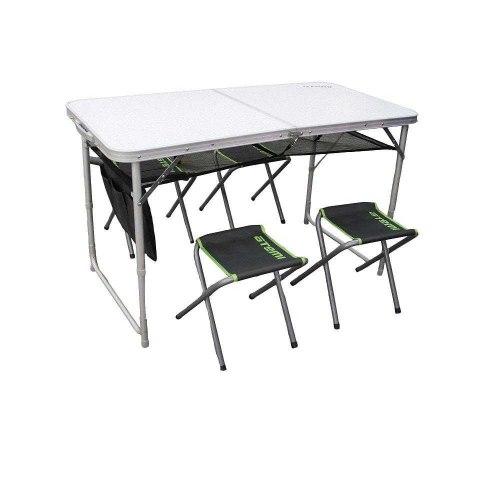 Стол набор туристический и 4 стула ATS-400