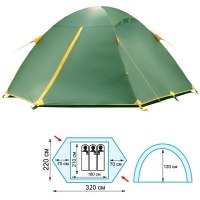 Палатка туристическая Tramp Scout 3