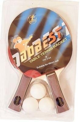 Набор ракеток настольного тенниса 1* Dobest BR19