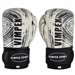 Перчатки боксерские Vimpex Sport серые 3092