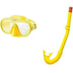 Набор для плавания маска трубка 55642 детский желтый