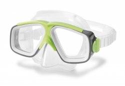 Набор для плавания INTEX маска трубка 55949 серый