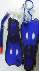 Комплект для плавания Froggy маска ласты трубка р-р 27-33
