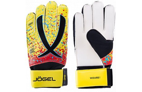Перчатки вратарские взрослые Jogel ONE Wizard AL3 Flat JGL-18471 р 9 10 желтые