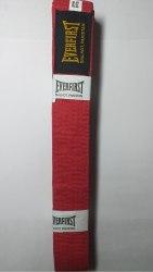 Пояс для единоборств Everlast красный 200см 250см