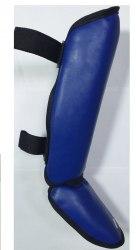 Защита голени и стопы Зубрава размер М иск. кожа синие