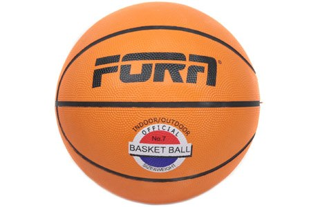 Мяч баскетбольный № 5 Fora BR7700-5 оранжевый