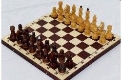 Шахматы с доской лакированные P-11