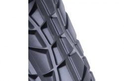 Ролик валик для йоги (массажный) STARFIT FA-509-BK-OR высокая жесткость черный