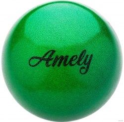 Мяч для художественной гимнастики Amely 19 см; зелёный AGB-103
