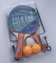 Набор настольного тенниса, Gold Cup арт.F3318 (2ракетки, 3 мяча+сетка)