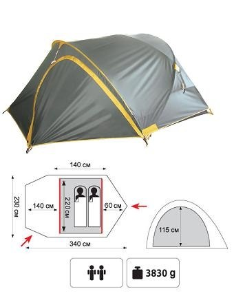 Туристическая палатка Colibri Plus