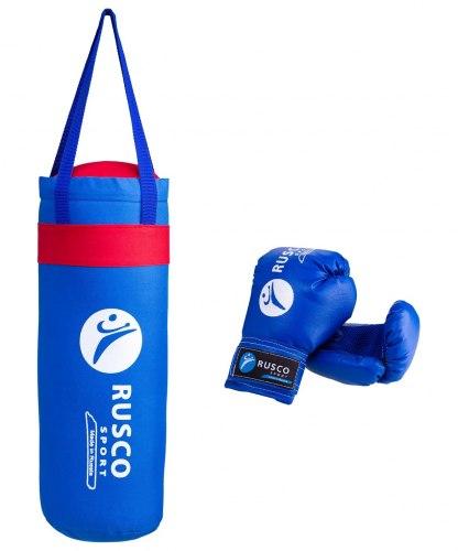 Набор для бокса Rusco 6oz, кожзам, синий