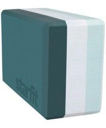 Блок для йоги STARFIT YB-201-IZ STARFIT 22,8х15,2х10 см, изумрудная радуга