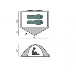 Палатка быстросборная BTrace Bullet 2 Зеленый