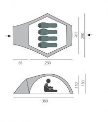 Палатка быстросборная BTrace Omega 4+ Зеленый