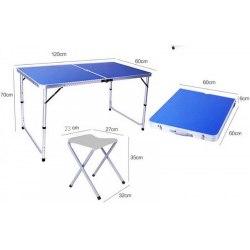 Стол набор кемпинговый + 4 стула JY-12060-1
