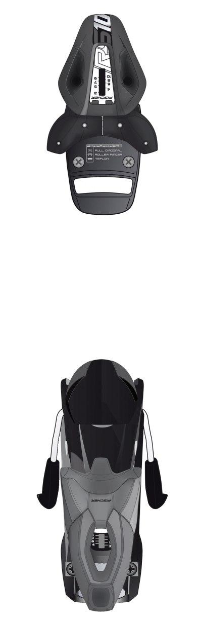 Крепления для горных лыж Fischer RS 10 антрацит