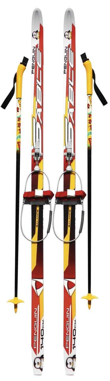 Детский лыжный комплект с кабельным креплением