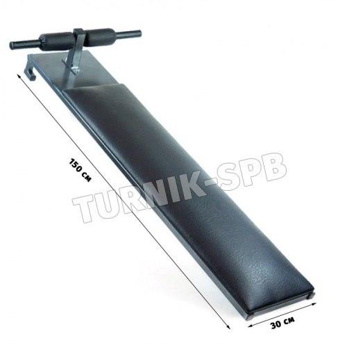 Шведская стенка + скамья с упорами для ног и брусья пресс