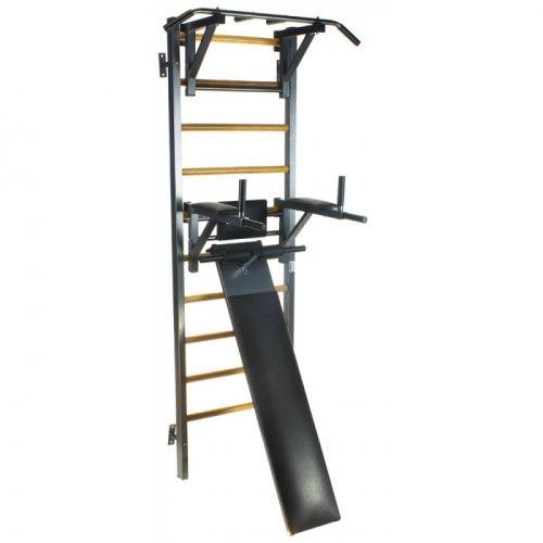 Комбинированная шведская стенка со скамьей + брусья пресс