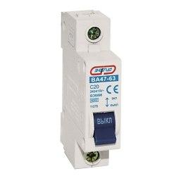Автоматический выключатель Энергия 1P 10A ВА 47-63