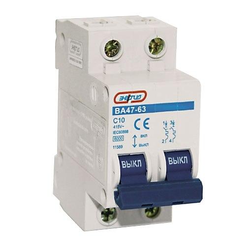 Автоматический выключатель Энергия 2P 25A ВА 47-63