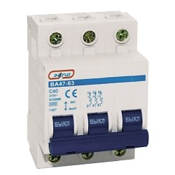 Автоматический выключатель Энергия 3P 50A ВА 47-63
