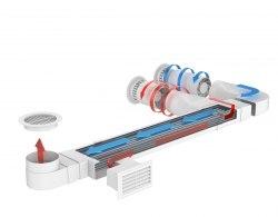 Вентиляционный подоконник с рекуперацией тепла Чистый воздух WFA 30