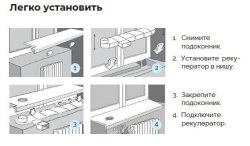 Вентиляционный подоконник с рекуперацией тепла Чистый воздух WFA 70