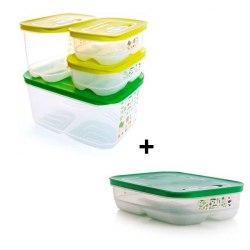 """Набор контейнеров """"Умный холодильник"""" (800 мл*2/1,8 л низкий/1,8 л высокий/4,4 л) Tupperware"""
