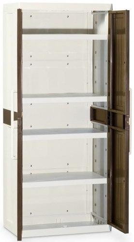 Шкаф Wood line L1 (глубокий), 2-х дверный с 4 полками.