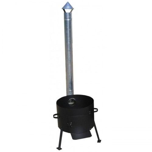 Печь для казана разборная с дымоходом
