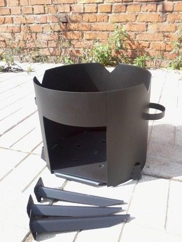 Печь для казана (разборная, сталь 3 мм)