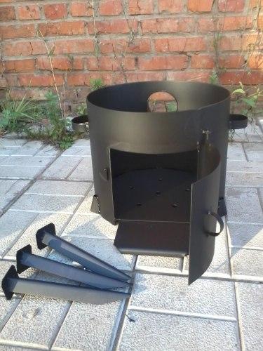 Печь для казана разборная с дымоходом (сталь 3мм)