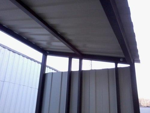 Большая разборная дровница с крышей КУБ-4
