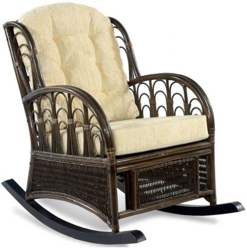 Кресло-качалка Comodo new из ротанга