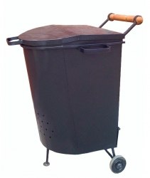 Печь для сжигания мусора мобильная.