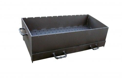 Жаровня 5 мм с ящиками-зольниками малая ( Серия ММ )