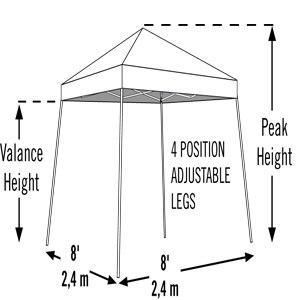 Шатер раскладной, Pop UP 2.4 х 2.4 м