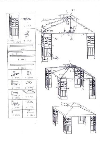 Павильон садовый DU 115-2