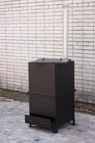 """Печь для сжигания мусора """"Испепелятор"""" дымоходом"""