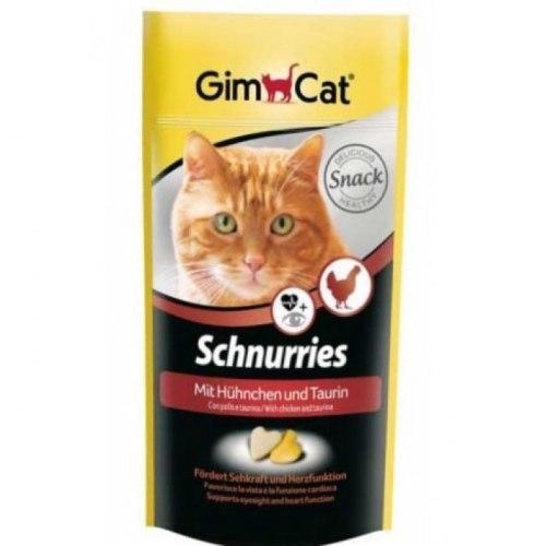 Лакомство GIMСАT 420 г для кошек сердечки с таурином и курицей 650шт