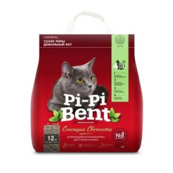 Наполнитель PiPiBent Сенсация свежести, бентонит, 5 кг (12л)