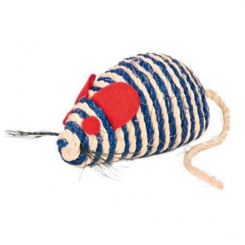 Игрушка TRIXIE сизалевая в виде мыши с кошачьей мятой, 10 см