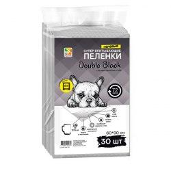 Пеленки Four Pets Double Black для собак с углем 60*60 см, 1 шт
