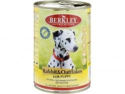 Консерва Berkley для собак кролик с овсянкой 400г