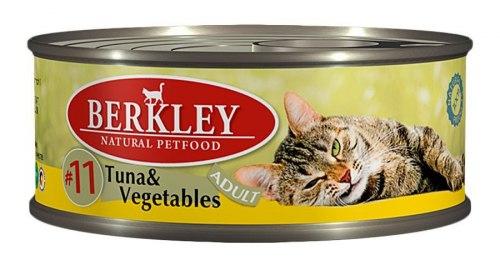 Консервы Berkley для кошек тунец с овощами 100г