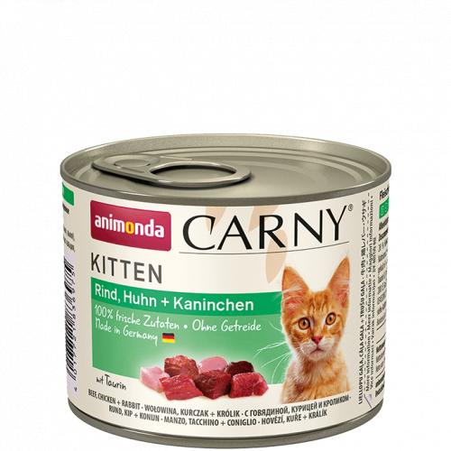 Влажный корм Animonda Карни для котят говяд, курица, кролик 200г