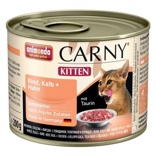 Влажный корм Animonda Карни для котят говядина, телятина, куриц 200г
